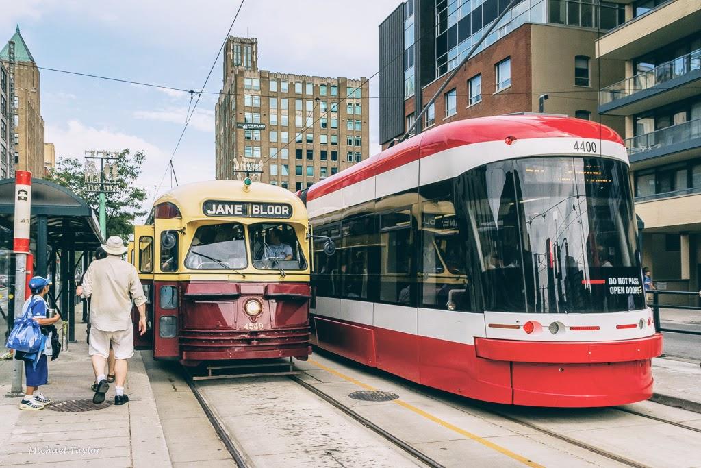 News: sleek new street cars in Toronto's new tram service