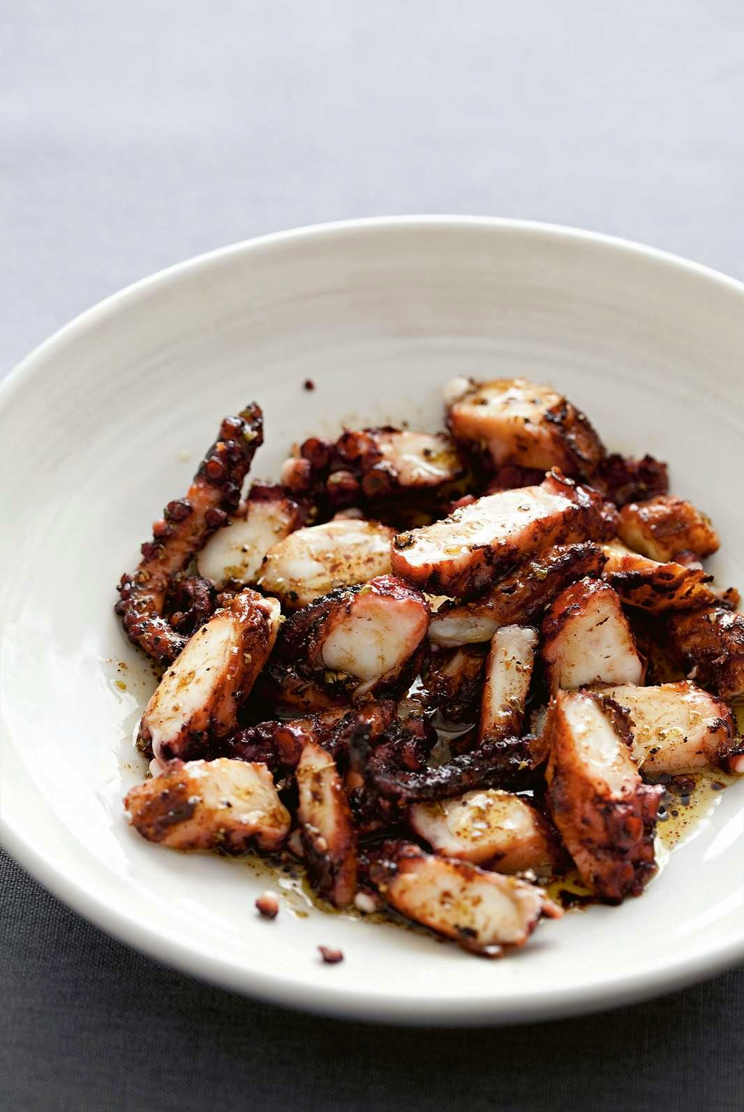 Recipe: Chargrilled octopus, lushed in extra virgin olive oil