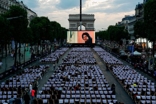 News: Champs Elysees transforms into a big open-air cinema for a night