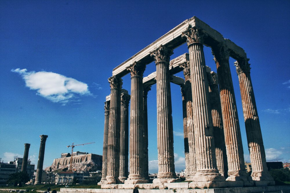 Travel Food People - Temple of Zeus, Athens