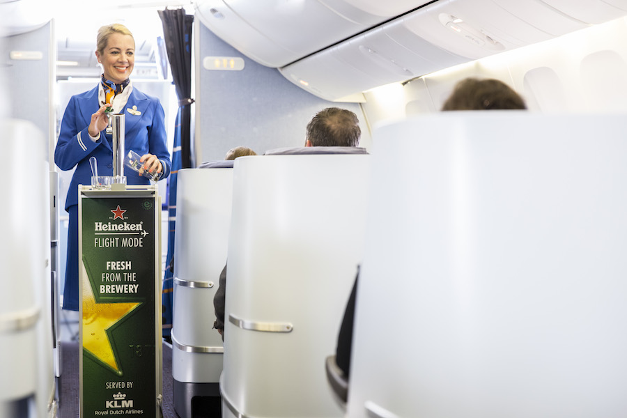 News: KLM launches world's first in-flight draught beer