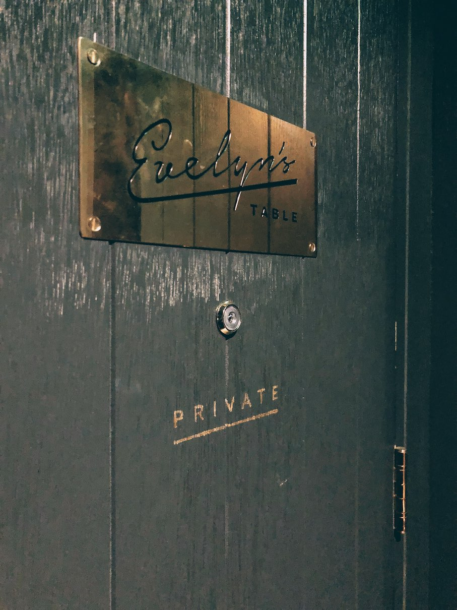 London: private dining for 12 at Evelyn's table