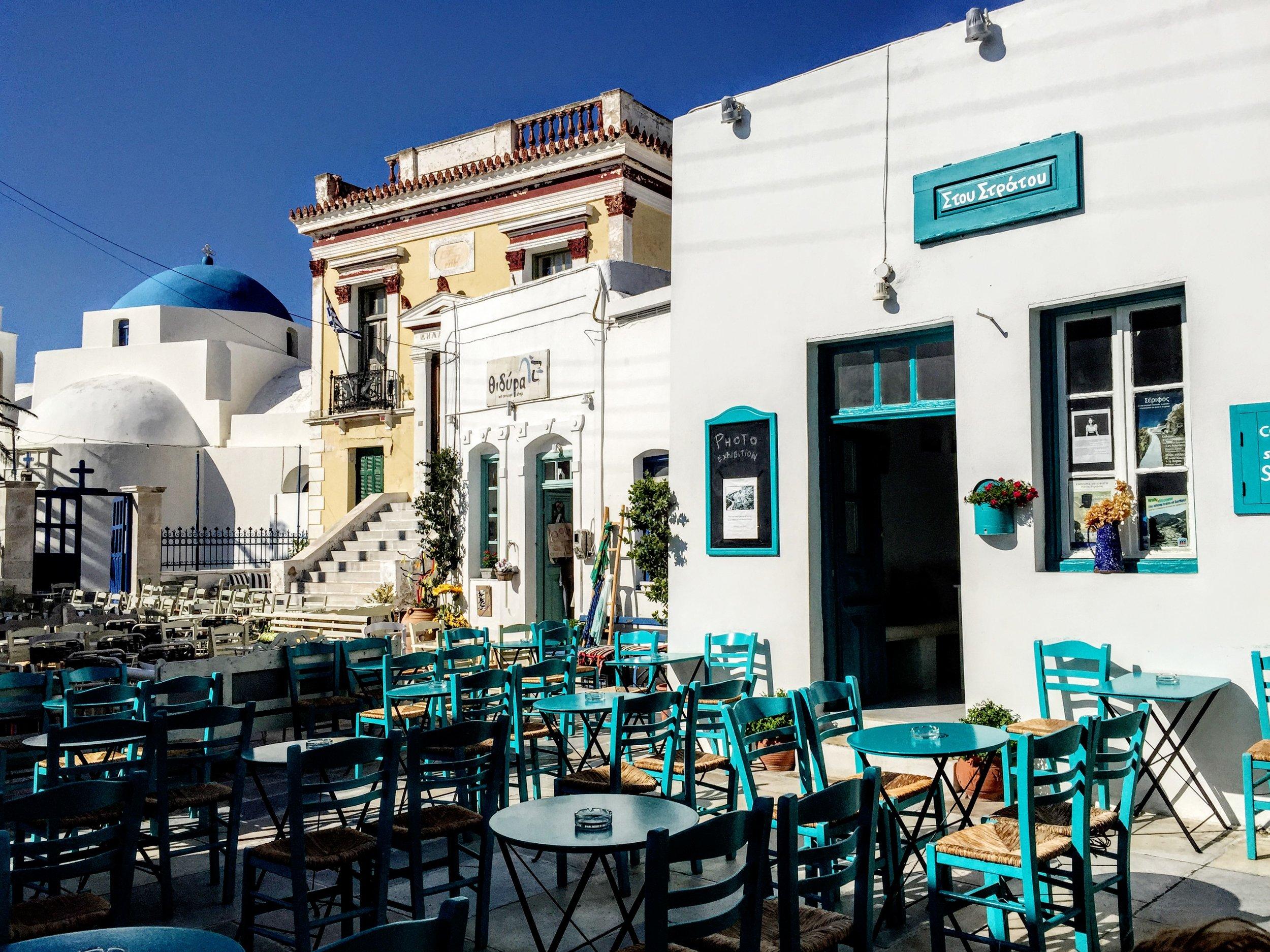 Serifos: the iconic Greek island café at Stou Stratou