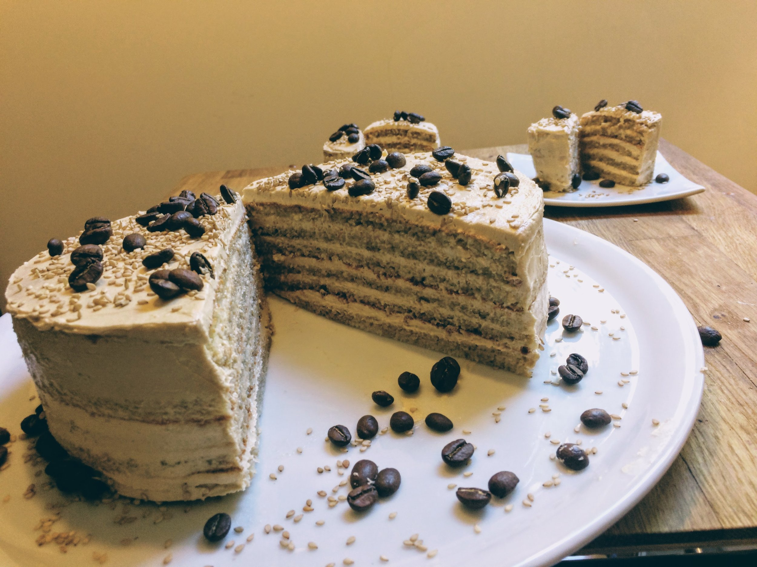 Recipe: delicious Coffee-Tahini Cake