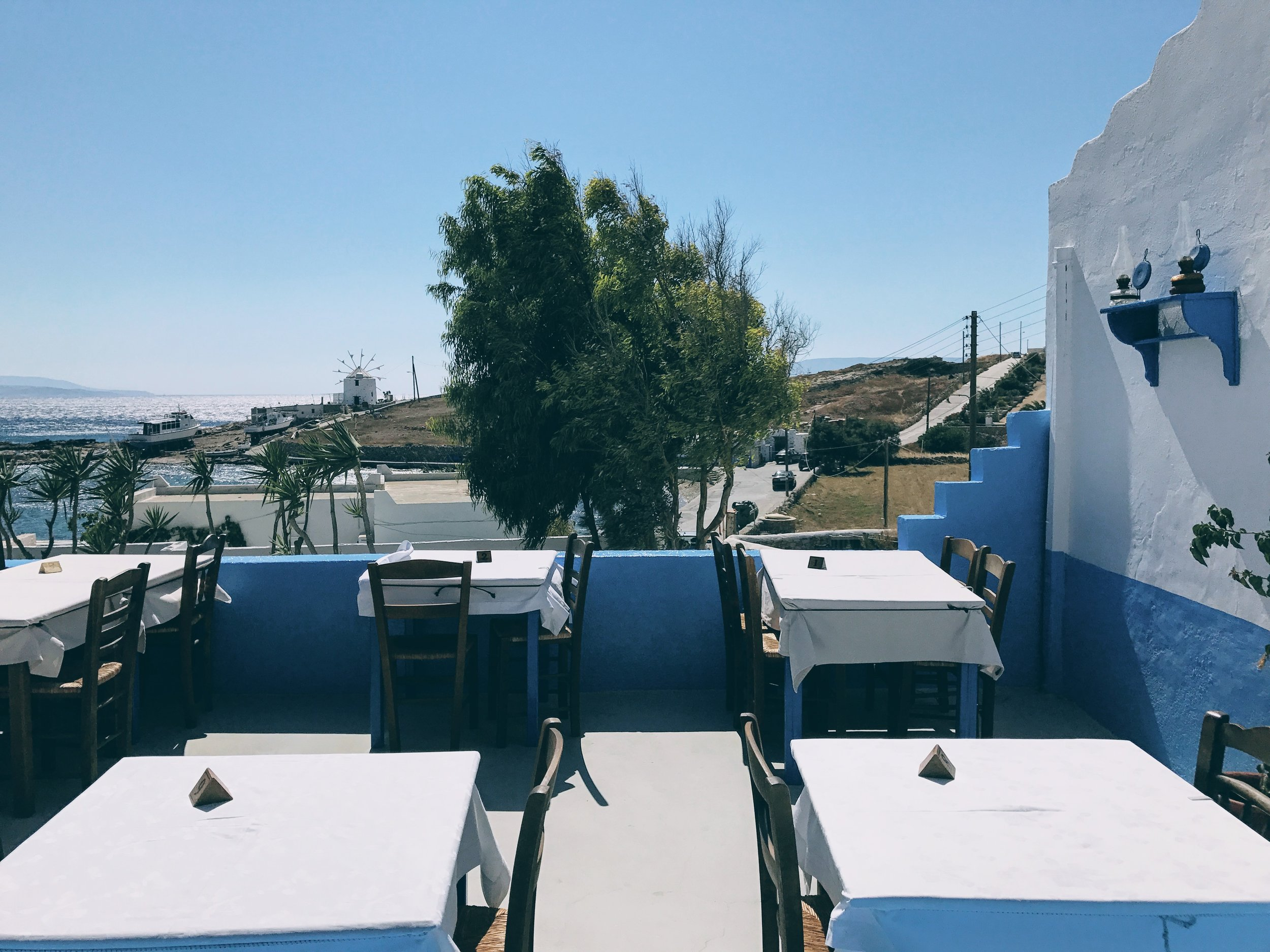 Koufonisia: gorgeous seaview at the traditional taverna of Captain Nicolas