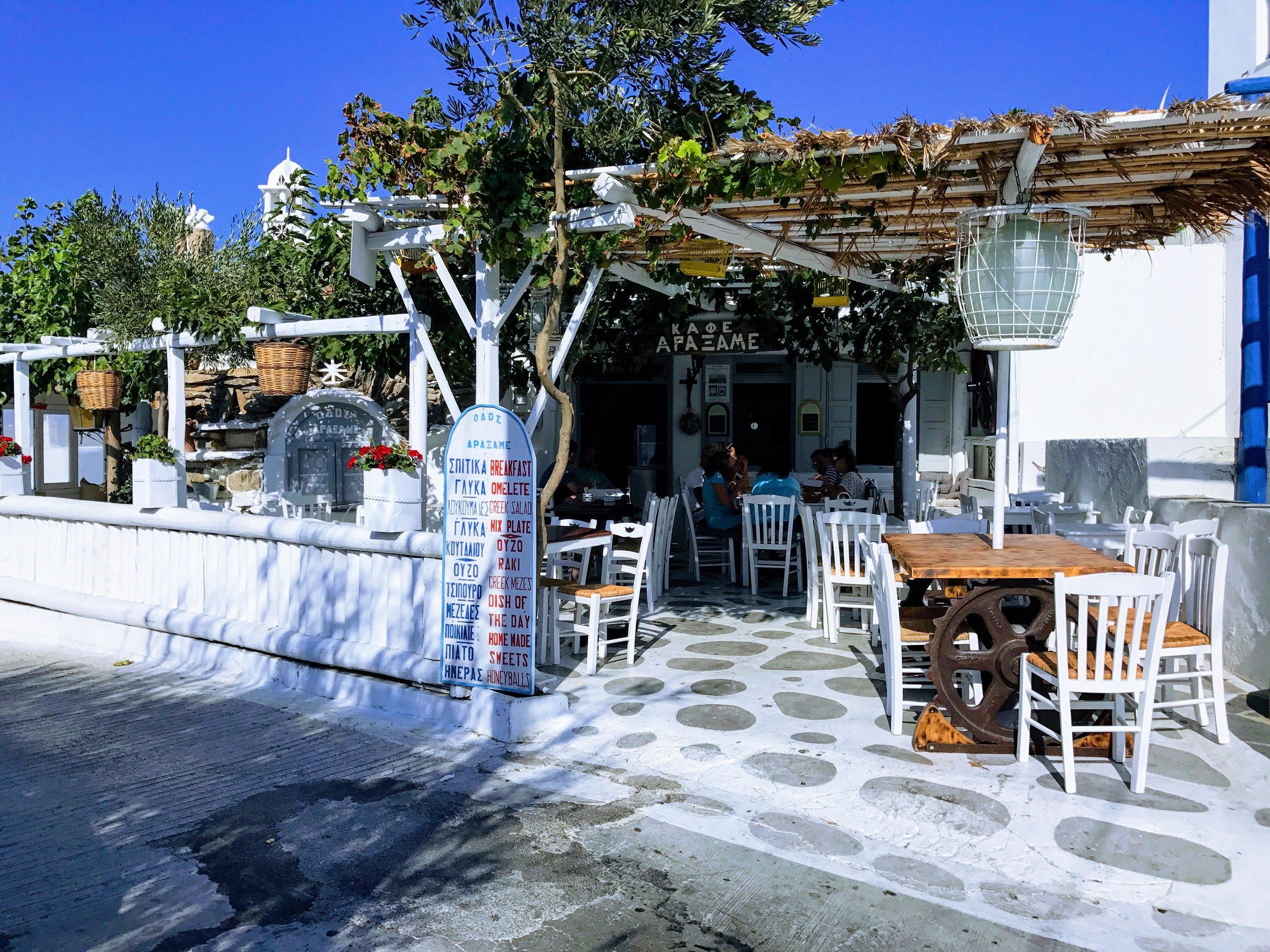 Mykonos: the way the island was... at the local kafeneio Odos Araxame