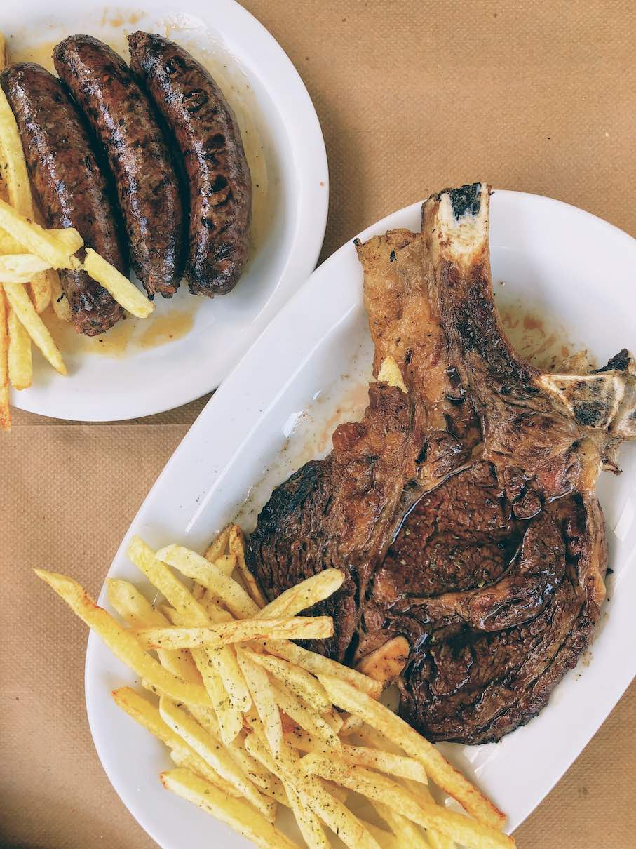 Naxos: local steakhouse and butcher shop at Stou Vasilarakiou