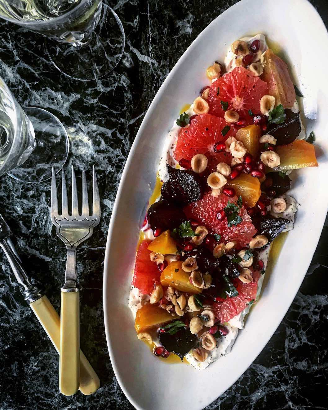 Recipe: Winter salad with roasted beets, blood oranges and hazelnuts