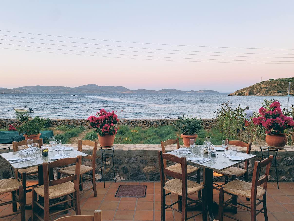 Patmos: top of the tops dining at the classy seafront garden of Benetos