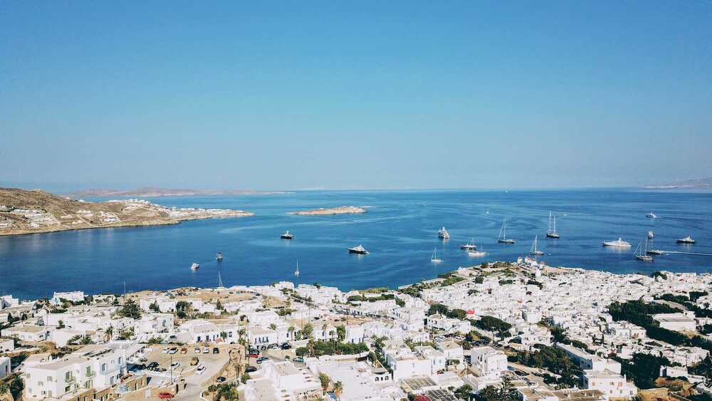 Mykonos Aerial View, Mykonos - Travel Food People