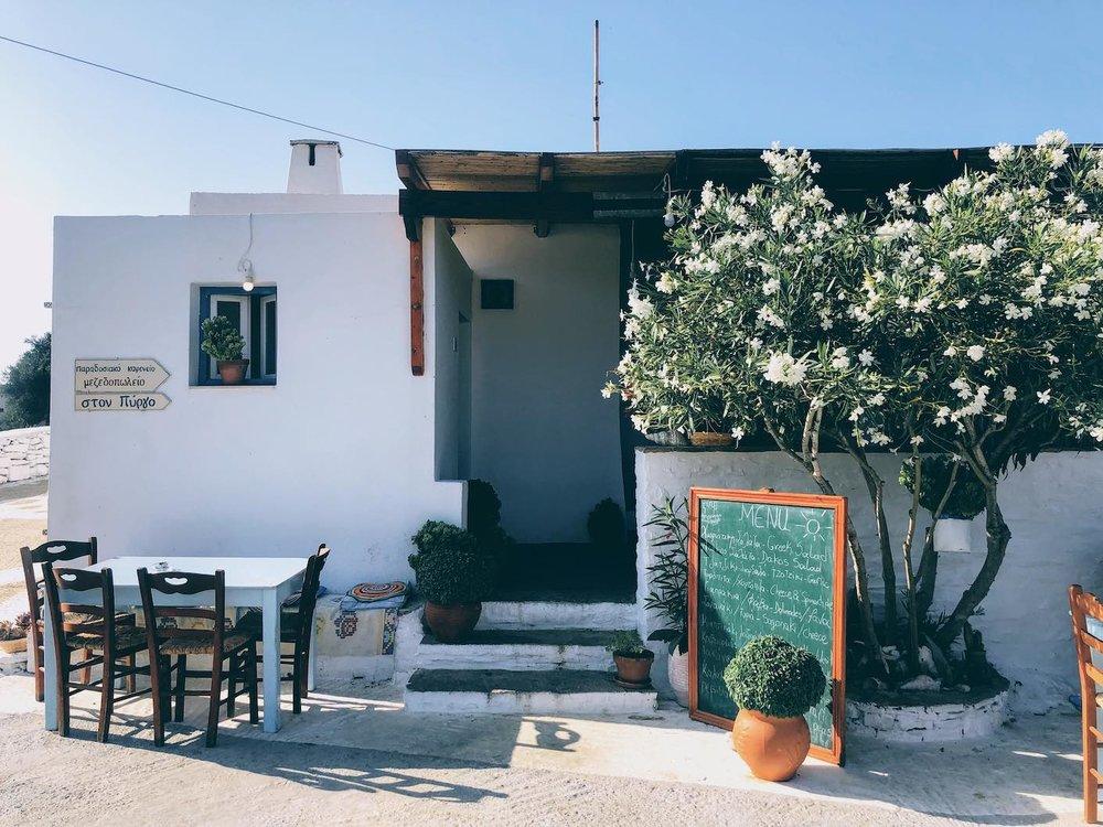 Travel Food People - Ston Pyrgo, Amorgos