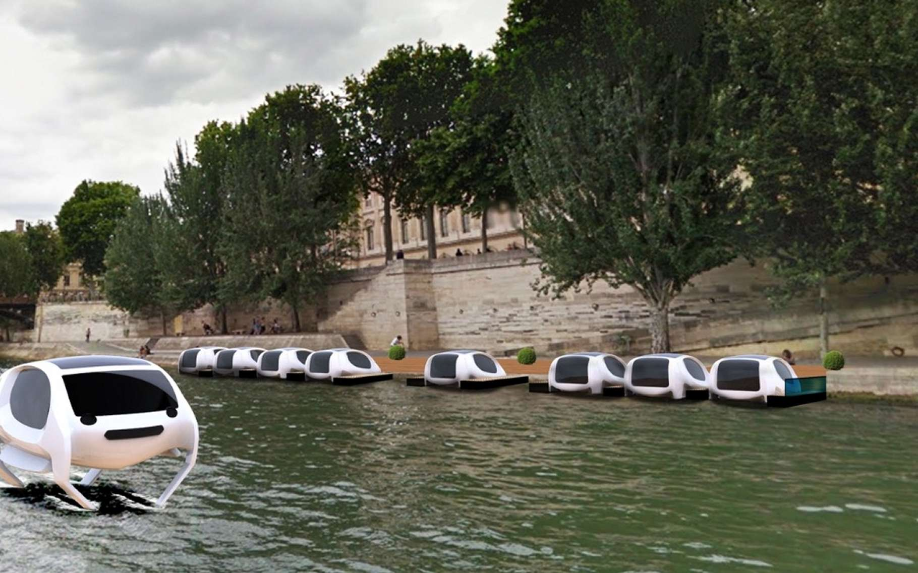 News: Paris Will Test 'Flying' Water Taxis on the Seine Next Year