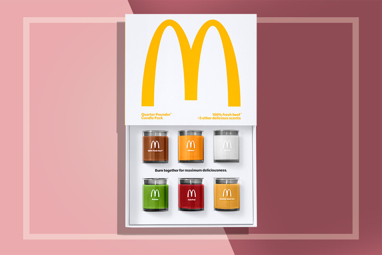 News: McDonald's Scented Candle Set Smells Like a Quarter Pounder When Burned in Unison