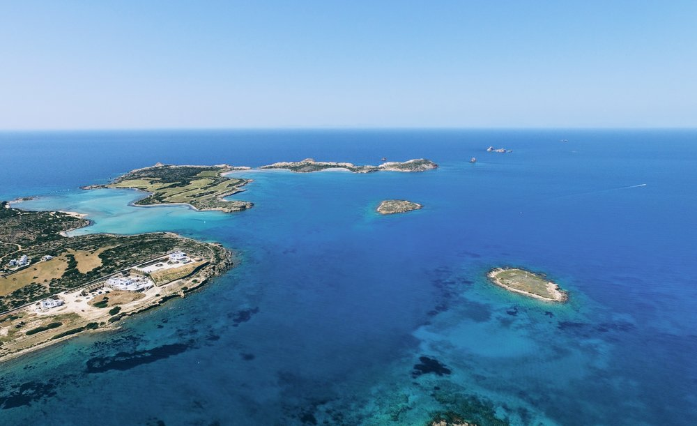 Travel Food People - Aerial view, Paros