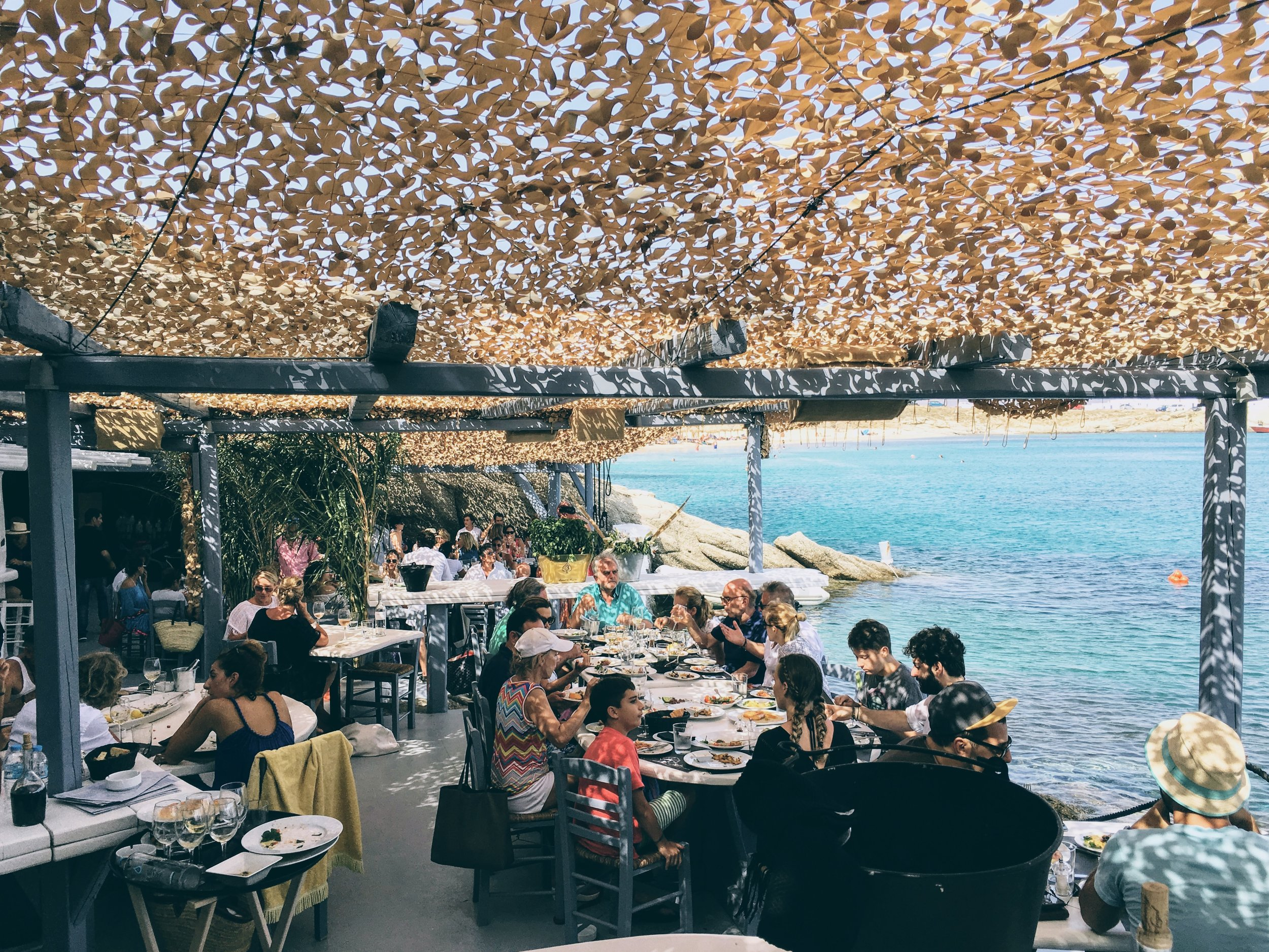 Travel Food People - Spilia seaside, Mykonos