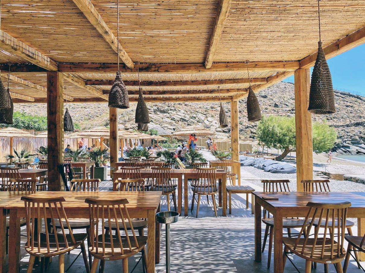 Bianco beach bar, Tinos