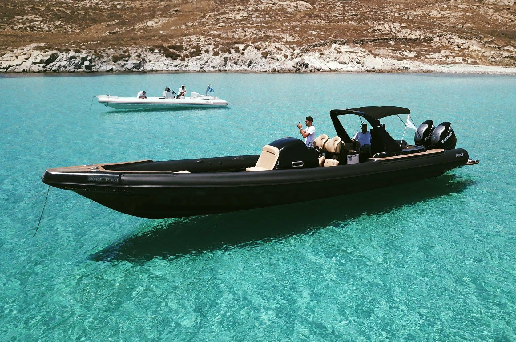 Private Rib boat cruise in Mykonos