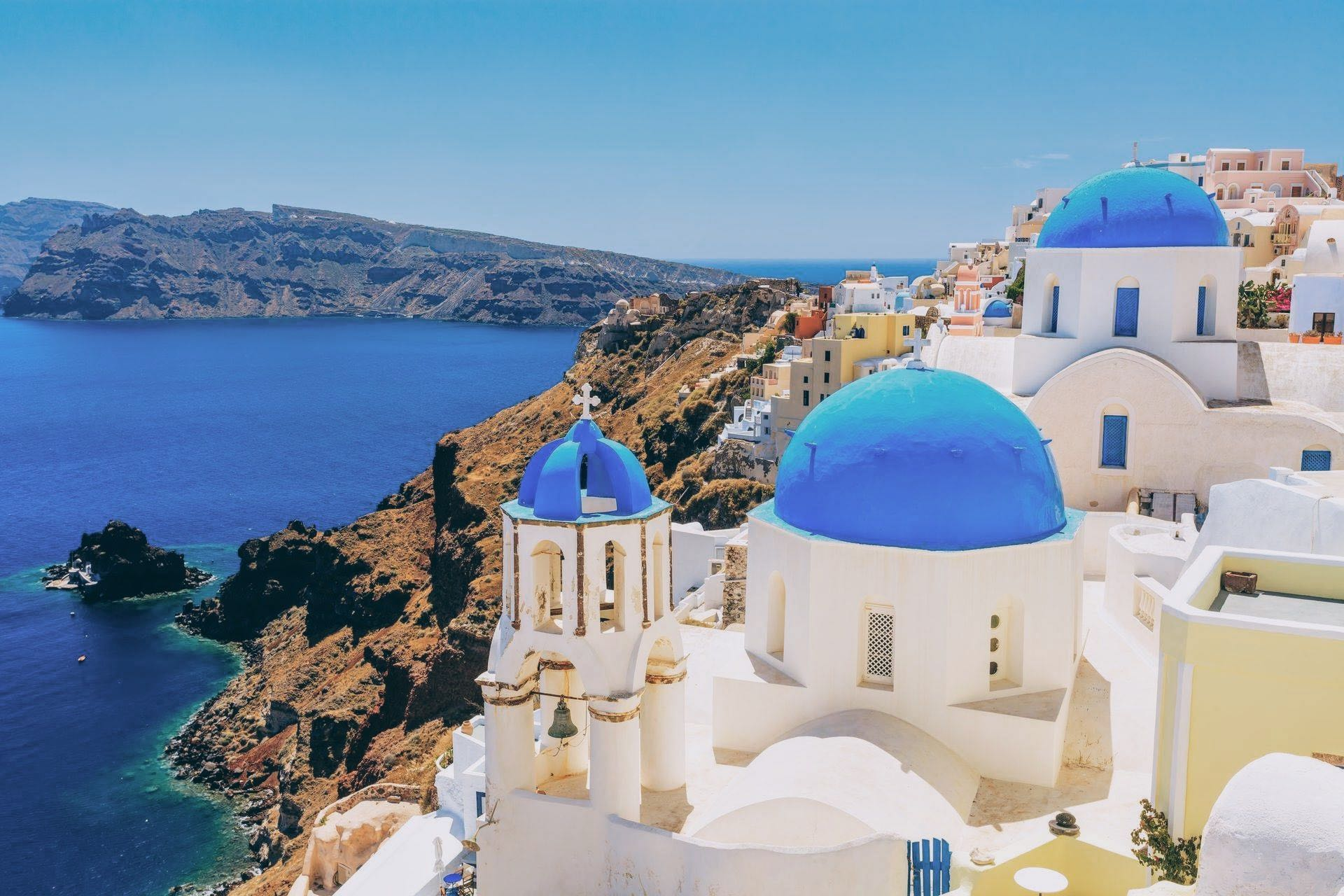 KT (4 hours): [Santorini] Santorini Panorama and Wine-Tasting