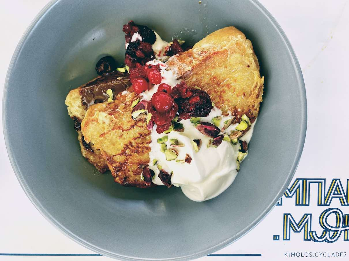 Kimolos: hearty and wholesome breakfast at BarBe