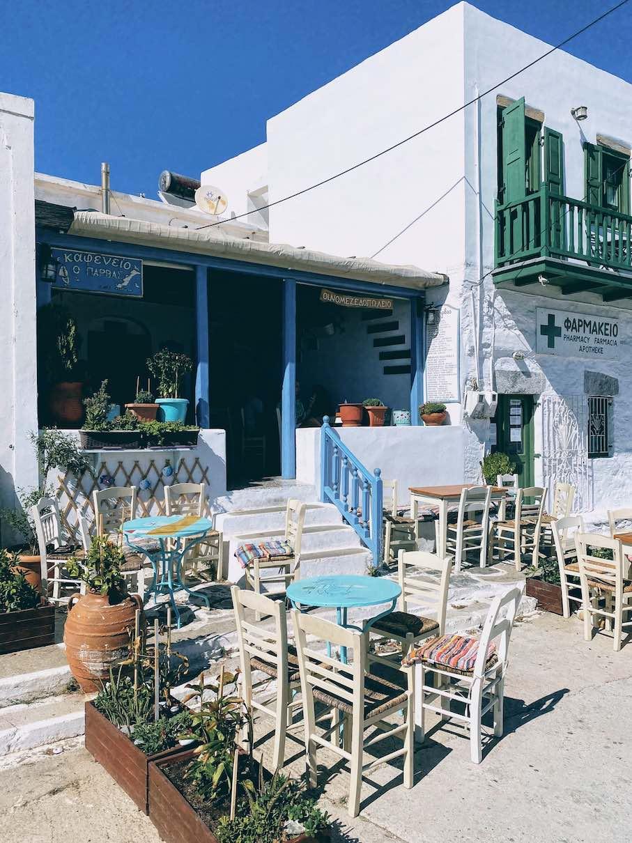 Amorgos: traditional meze at the kafeneio of Parvas